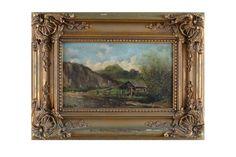 """Novak E. """"Paisagem e marinha com figuras"""", o.s.m. - 17 x 28 cm. Ass."""