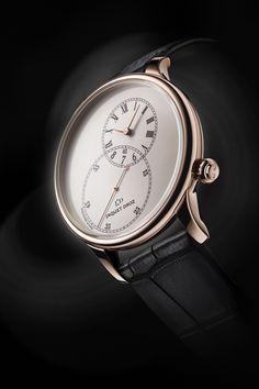 雅克德罗 (Jaquet Droz) Grande Seconde Off-Centered Ivory Enamel Fine Watches, Cool Watches, Watches For Men, Stylish Watches, Luxury Watches, Gold Pocket Watch, Mens Toys, Bracelet Cuir, Beautiful Watches