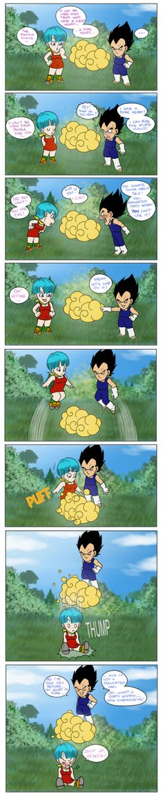 So... does Vegeta have a pure heart, or is he clever enough to hover just right? lol