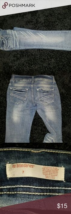No bounderies jeans Womens no bounderies jeans good condition No Boundaries Jeans
