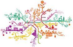 Paris Metro map - How beautiful is that?