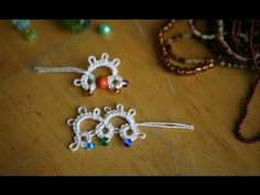 "Tatting - #2 ""Adding Beads (b) in Needle Tatting: method one"" by RustiKate"