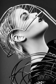 futuristic look. if incorporated, could convey we are ahead of our time and have an edge over our competitors. - Miranda