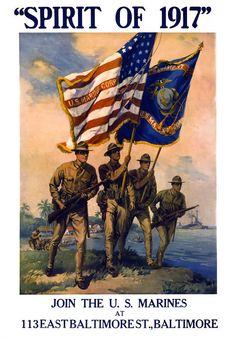 U. S. Marines Spirit Of 1917