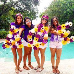 Delta Phi Epsilon at Florida International University #DeltaPhiEpsilon #DPhiE #BidDay #letters #sorority #FIU