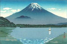 [Mt.Fuji from] Shoji Lake (2), by Tsuchiya Koitsu, 1934