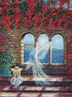 Anděl strážný Tarot, Painting, Painting Art, Paintings, Painted Canvas, Drawings, Tarot Cards