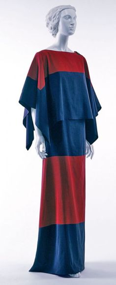 Paul Poiret, Silk faille dinner dress, 1922-23  **I like the lines but would prefer a different Color/Pattern