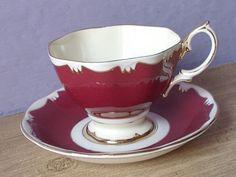 Vintage Royal Albert Mid Century tea cup and saucer, English fine bone china  / 1950s