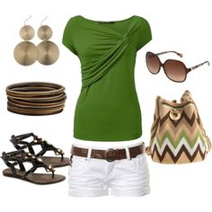green and brown by marnifox on Polyvore