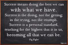 Quote for success, Zig Ziglar