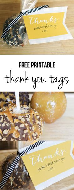 Free printable thank you tags on iheartnaptime.com -cute way to dress up a gift!