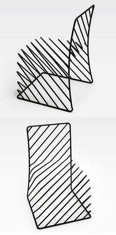 DESIGN >>> Chaise Squiggly par Nendo - Journal du Design #funkyfurniture