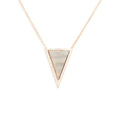 Karin Pendant necklace by Gab & Cos designs for $102 @ Charleston Sun Jewelry. Rose gold plated and Cz's. Click on image for details!