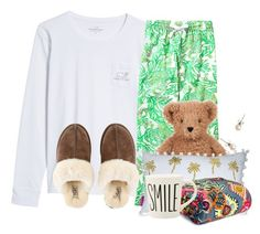 """""""Goodnight poly! Sleep well girlies"""" by flroasburn ❤ liked on Polyvore featuring Vineyard Vines, Lilly Pulitzer, UGG, Vera Bradley and J.Crew"""