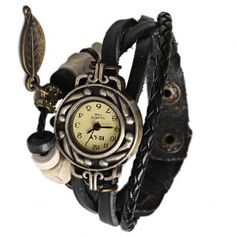 Cheap Wholesale IELY Quartz Watch with 12 Numbers Indicate Leather Watch Band for Women - Black (BLACK) At Price 5.52 - DressLily.com