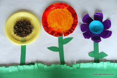 Paper plate flowers  This might be the new bulliten board in 2s and 3s! LOVE!!