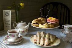 A traditional afternoon tea at Davenports