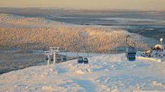 Gondola ski lift in Levi ski resort