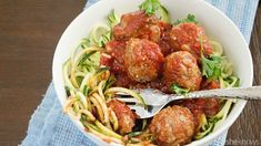 Vegan quinoa meatballs with fresh zucchini noodles — a hearty dinner you can feel good about