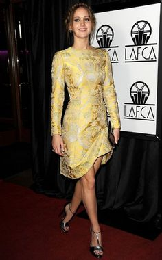 Who: Jennifer LawrenceWhat: Valentino CoutureWhere: Los Angeles Film Critics Association Awards, Los AngelesWhen: January 17, 2013