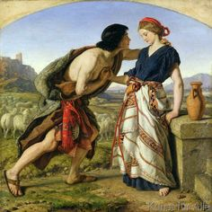 William Dyce - The Meeting of Jacob and Rachel, 1853