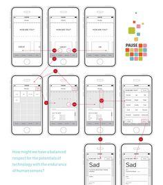 Muse shopping app wireframes by Caroline Wiryadinata