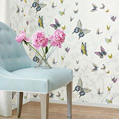 Wallpaper Love: Anna French's Seraphina Collection | The English Room