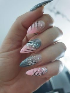 Acrylic Nails Coffin Short, Almond Acrylic Nails, Cute Acrylic Nails, Ombre Nail Designs, Acrylic Nail Designs, Nail Art Designs, Hot Nails, Swag Nails, Pink Nails