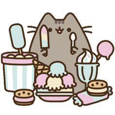 Pusheen The cat diva nails arcade ny - Diva Nails Gato Pusheen, Pusheen Love, Pusheen Unicorn, Cute Kawaii Drawings, Cute Animal Drawings, Pusheen Stickers, Pusheen Stormy, Cat Kawaii, Cream Cat