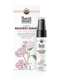 OVERNIGHT RECOVERY SERUM With ARGAN OIL + EVENING PRIMROSE OIL Deeply hydrates and softens skin with a rich concentration of vitamins...