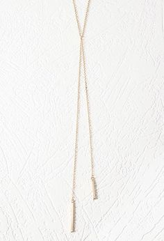 Matchstick Lariat Necklace for Mom to wear. Pretty & delicate to wear with any of the items chosen.