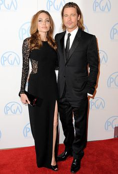 Angelina Jolie & Brad Pitt at the Producers Guild Awards' Red Carpet...