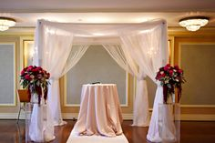 Alana and Felipe'sRoyal York Toronto Lavish Wedding Featuring the all Organza Chuppah 8 x 8 by www.chuppah.ca. Thanks to Blast Events http://www.blastevents.ca/ @Fairmont Royal York