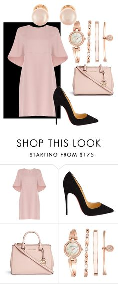 """CLASSIC LADY"" by funstyleloving on Polyvore featuring Valentino, Christian Louboutin, Michael Kors, Anne Klein and Kenneth Jay Lane"