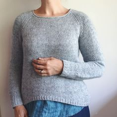 How to knit a simple neckline