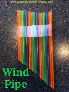 Straw Wind Pipe Instrument - easy project for learning about sound