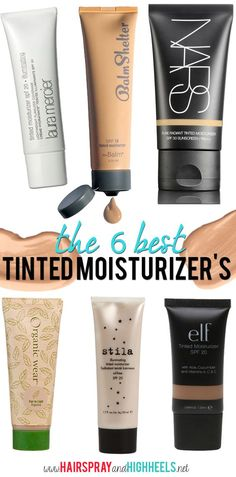 The Best Tinted Moisturizers! Perfect for the hot summer weather! #makeup #beauty: