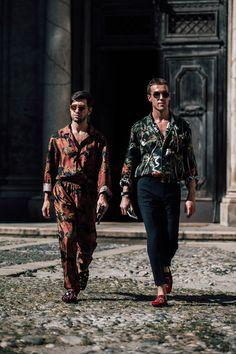 Street Style à la Fashion Week printemps-été 2018 à Milan