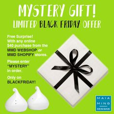 "BLACK FRIDAY SPECIAL! Free surprise! Add ""MYSTERY"" in order. http://www.maiamingdesigns.com/shop http://maia-ming-designs.myshopify.com/ #blackfriday #mystery #deals #holidayshopping #holidaygiftguide  #holidaysales #holidayready #ltkunder100 #ltkholidaygiftguide #SSTholidaygiftguides #MMDholidaygiftguide #blackfriday #cybermonday  #giftdifferently"