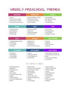 100+ Weekly preschool themes — The Organized Mom Life