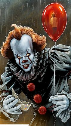 Want to discover art related to pennywise? Check out inspiring examples of pennywise artwork on DeviantArt, and get inspired by our community of talented artists. Penny Wise Clown, Es Pennywise, Pennywise The Dancing Clown, Pennywise Painting, Horror Movie Characters, Horror Movies, Le Joker Batman, Joker Cartoon, Joker Art