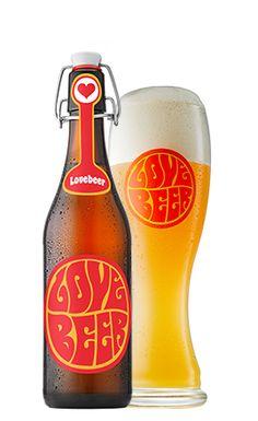 Lovebeer in Glas und Flasche