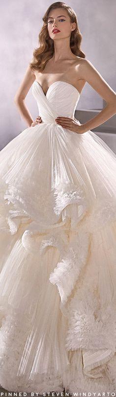 Beautiful Wedding Gowns, Best Wedding Dresses, Sweetheart Wedding Dress, One Shoulder Wedding Dress, Betta, Pronovias Bridal, Spring, Shades Of White, Lookbook