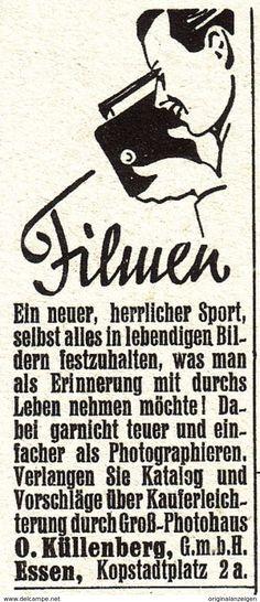 Original-Werbung/ Anzeige 1937 -  FILMEN / KÜLLENBERG - ESSEN - Ca. 25 X 50 Mm - Werbung