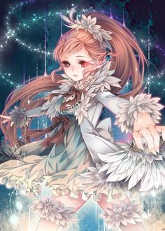 anime girl art illustration