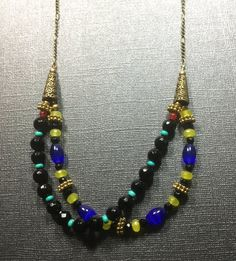 Jewelry/Necklace /SemiPreciousStones and Bronze by CatchyTreasures
