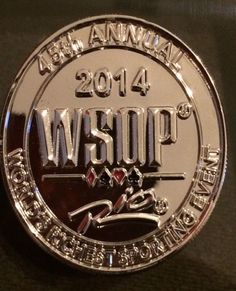 2014 WSOP World Series of Poker 45th Annual Collector Coin #2 0f 500 limited!