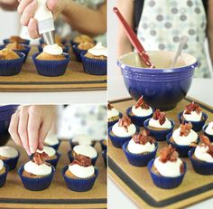 Maple & bacon French toast cupcakes