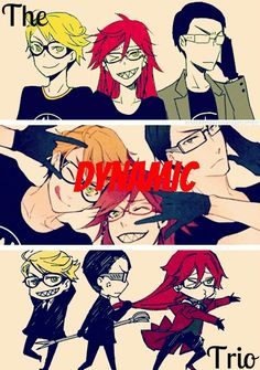 The Dynamic Trio~ Ronald, Grell and William (^o^)/